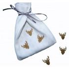 Tête de cerf or  (miniatures)