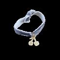 Bracelet cerise velours gris