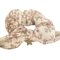 Chouchou fleuri rose et étoile