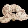 Chouchou fleuri beige et étoile
