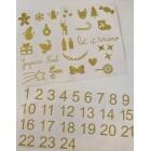 Planche de stickers pailleté