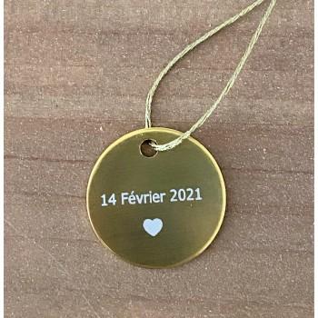 Médaille date + coeur