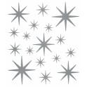 Planche de stickers étoiles