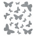 Planche de stickers papillon