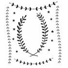 Lauriers et étoiles noirs planche 15 stickers