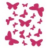 Papillons rose planche 18 stickers