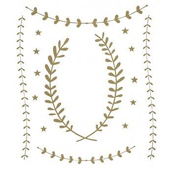Planche de stickers lauriers et étoiles