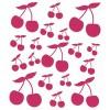 Cerises fushia planche 18 stickers