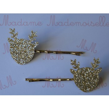 Barrettes cerf