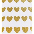 Mini stickers coeur glitter