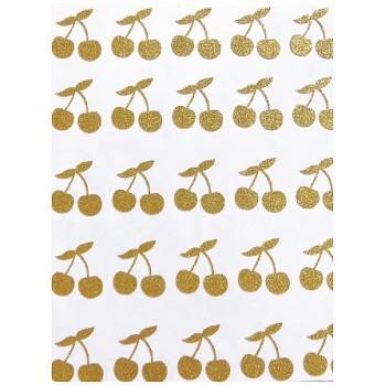Mini stickers cerises glitter