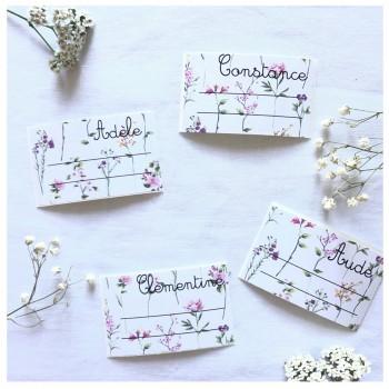 Étiquettes imprimé fleuri