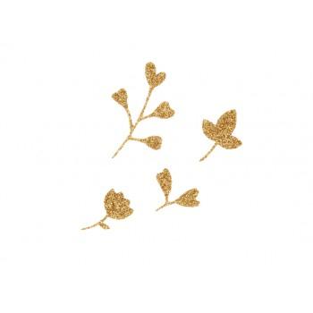 Miniatures fleurs et feuilles
